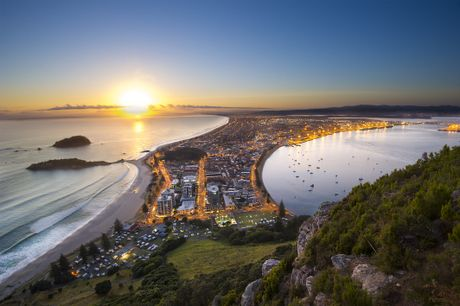 The dawn as seen from Mount Maunganui.