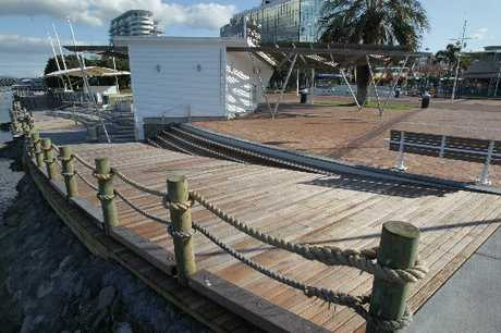 The northern waterfront pontoon has been closed.