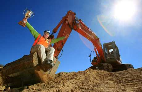 WINNER: Papamoa man James Lux is New Zealand's top excavator operator.