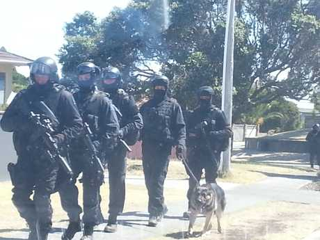 Armed offenders were spotted coming out of Riverton Rd, Mount Maunganui.