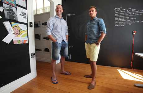 Sheldon Nesdale (left) and Kyle Goldsack have plans to expand their shared working space.