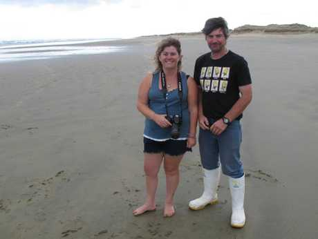 Top Gear fans Trinda and Chayne Steen had already spent two days waiting on Ninety Mile beach when the Advocate caught up with them.