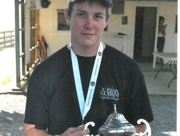 James Fulford with his Junior High Gun trophy won at the recent nationals in Hamilton.