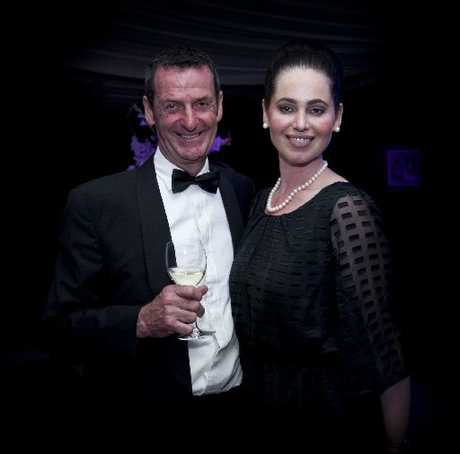 SARTORIAL  ELEGANCE: Sir Mark Todd  and Elizabeth Charleston at the Hall of Fame gala dinner on Thursday night during the Horse of the Year Show in Hastings.