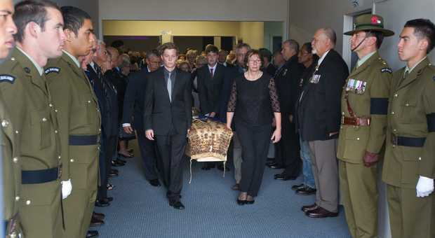 150313sp19 Funeral for Aubrey Balzer.  15 March 2013 Daily Post photograph by Stephen Parker