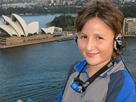 GREAT HEIGHTS: Nicole Wilson's dream to climb the Sydney Harbour Bridge was granted by the Make-A-Wish Foundation.