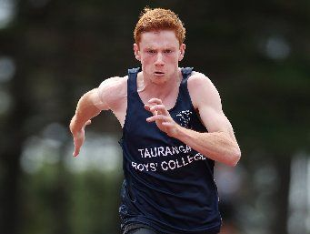 RECORD-BREAKER: Olly Ranby set a new Waikato Bay of Plenty senior boys' 200m time on Saturday.