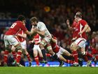 Geoff Parling of England is tackled by Toby Faletau (L) of Wales during the RBS Six Nations match between Wales and England at Millennium Stadium on March 16, 2013 in Cardiff, Wales.