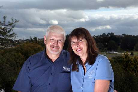 GIVING: John and Sue Clyne are dedicating two years of their lives to volunteer on a hospital ship.