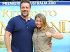 HE IS used to being the star of the big screen but on Sunday night, Russell Crowe had to take a back seat to Bindi Irwin.
