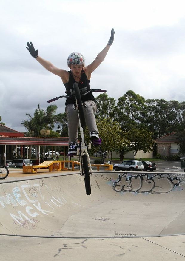Contributed: Mariah Thiele demonstrates a tuck no hander.