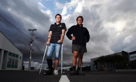 WE WANT TO RACE SAFE: Brothers Steven Climo (left) and Mathew from Napier, are calling for support to organise a drag strip.