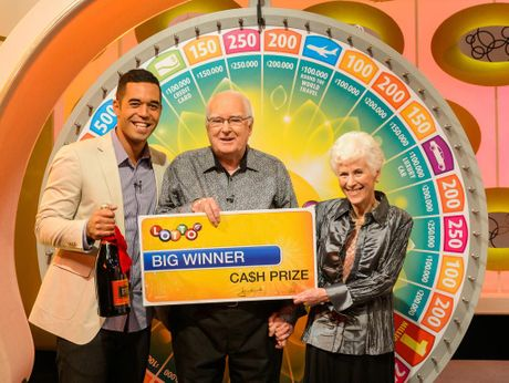 BIG WIN: David and Bev won $250,000 on Lotto's Winning Wheel on Saturday.