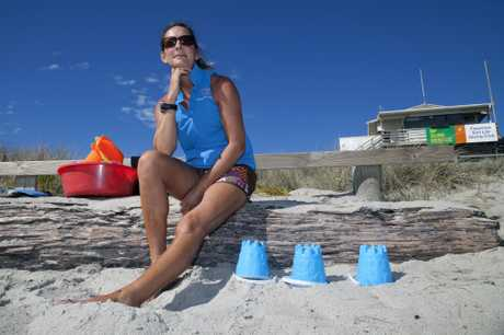 Beach Kids instructor Hayley Hart says she finding oil on the balls of her feet was a regular occurrence but she is not worried.