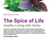 Healthy living with herbs.