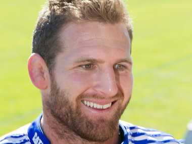 Kieran Read radiates confidence at training yesterday.