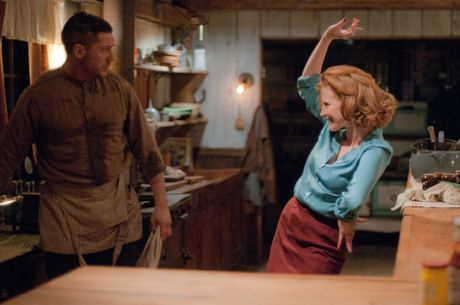 Tom Hardy and Jessica Chastain star in Lawless.