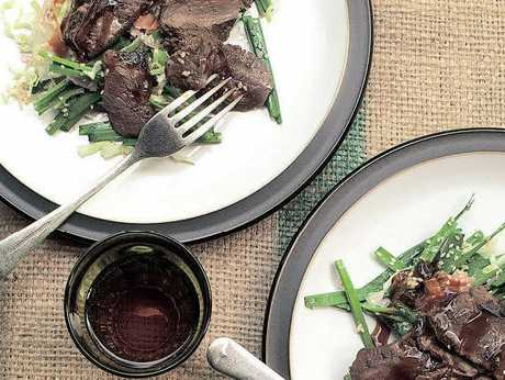 Soy & Ginger Venison with Asian Slaw
