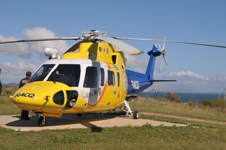 RACQ Capricorn Helicopter Rescue (RESCUE 300) at Facing Island. Contributed