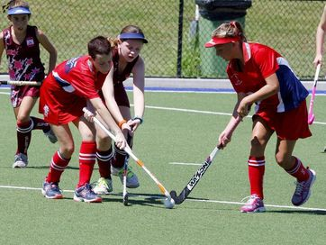Ipswich junior hockey action: Collegians versus Norths; Wests versus Bellbowrie and Collegians versus Bellbowrie