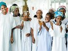 Fistula patients celebrate following successful surgery on board the Africa Mercy in Guinea.