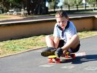 Kaiden Birt skate boarding - one of the activities kids could do this holidays to relieve the boredum.
