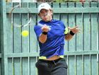 RETURN TO SENDER: Rubin Statham in Bundaberg Tennis International action at Drinan Park.