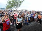 CAPTIVATED AUDIENCE: Hundreds gather to watch Sam Cashman and Nick Jansen on the Buskers Stage at Bluesfest on Sunday. The boys won the busking competition and, with it, prizes and opportunities to give them a head-start in the industry.