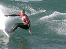 Stephanie Gilmore gives it her all at Rip Curl Pro despite fractured foot
