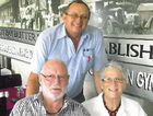 WEDDED BLISS: Bill and Eunice McIntyre celebrate their 48th wedding anniversary with Gympie Regional Realty's John Cochrane.