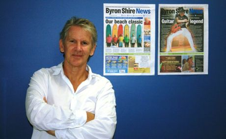 Former editor of the Byron Shire News Digby Hildreth.