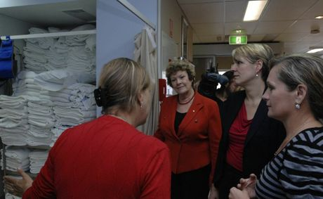 NSW Health Minister Jillian Skinner and Federal health minister Tanya Plibersek pictured touring Lismore Base Hospital's emergency department last May after announcing the hospital would get a new $80m ED, with $60m in Commonwealth funding and $20m from the State Government.