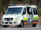 A 35-YEAR-OLD male motorcyclist was taken to Gladstone Hospital after colliding with a car on the corner of Glenlyon Road and Phillip Street on Thursday night.