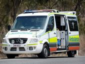 A motorcyclist was taken to hospital as a precaution following a crash on Glenlyon Road.