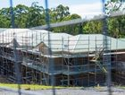 Scaffolding around the Mater Christi aged care facility in Toormina was being loaded onto trucks as construction group National Buildplan was placed into administration. Picture: TREVOR VEALE/Coffs Coast Advocate