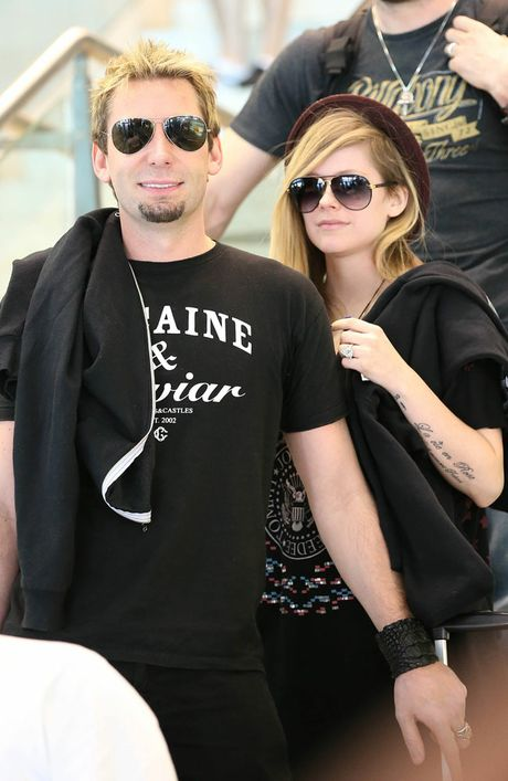 Chad Kroeger with Avril Lavigne