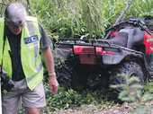 All four passengers on Daniel McGregor's quad bike broke bones after he lost control during a drunken joyride in Waimarama.