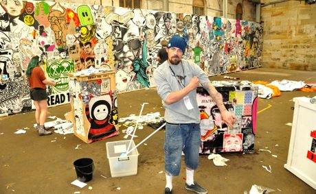 Melbourne-based street artist Ben Foster who will this weekend paint a mural at Eggins Lane, for Stage Four of Lismore's Back Alley Gallery.