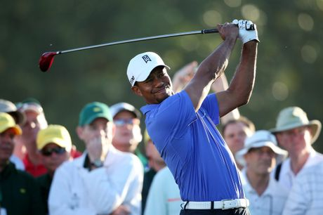 Tiger Woods on Tiger Woods Of The United States Hits A Shot During A Practice Round