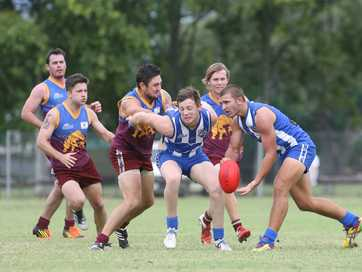 Action from the Gelnmore Bulls v Brothers AFL game at Kele Park on Saturday.   Photos CHRIS ISON