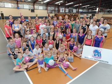 Hervey Bay netballers were treated to a day of skills and thrills at the Wide Bay Thundercats fun day.