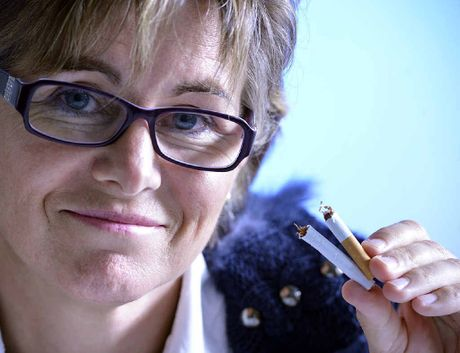 SNAP OUT: Clinical hypnotherapist Amanda Pain believes most cases of smoking addiction can be broken in one session of hypnotherapy. Claudia Baxter