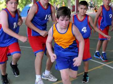 Wide Bay basketball trials at Gympie State High School.