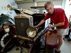 Bill Young with his 1927 Morris Garage 14/28 won't be able to make the trip to Canberra to celebrate 100 years of Morris Cars.