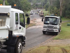 Bellbird Park burst water main April 17, 2013
