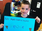 MARTIN Richard was eight years old. His father loved running marathons; his family loved watching. Today he is dead, his mother and sister critically injured.