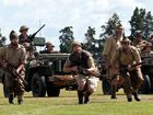 Actors from the World War II Historical Re-enactment Society give us a glimpse of war with an re-enactment of the Battle of Crete at Katikati Heritage Museum.