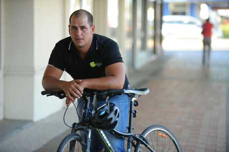 CLOSE CALL: Andrew Abbott who was hit by a car on Bargara Road would like to see better roads for cyclists. Photo: Mike Knott / NewsMail