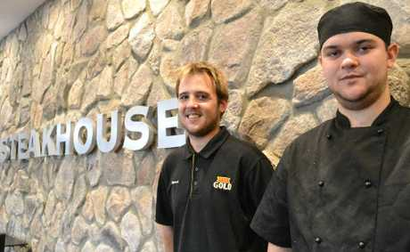 WELCOME: Grafton Steakhouse head chef Beau Eveleigh and sous chef Steve Evans are ready for today's opening.