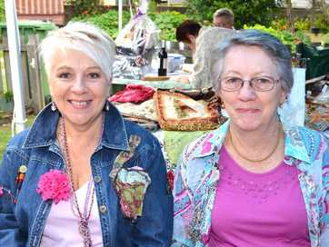 Nanart committee held a garden party to raise money for the annual arts and craft festival.